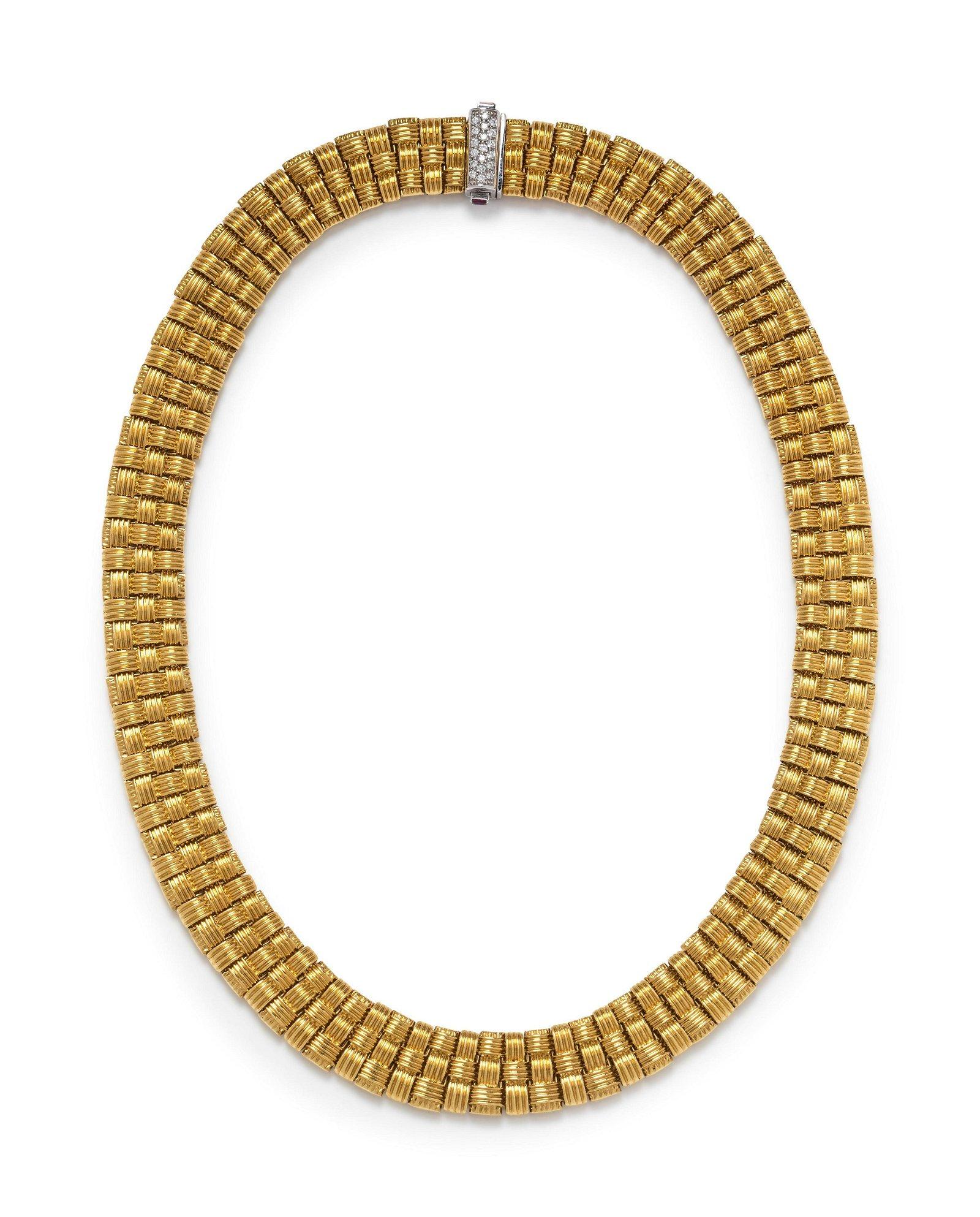 Roberto Coin, Yellow Gold and Diamond 'Appassionata'