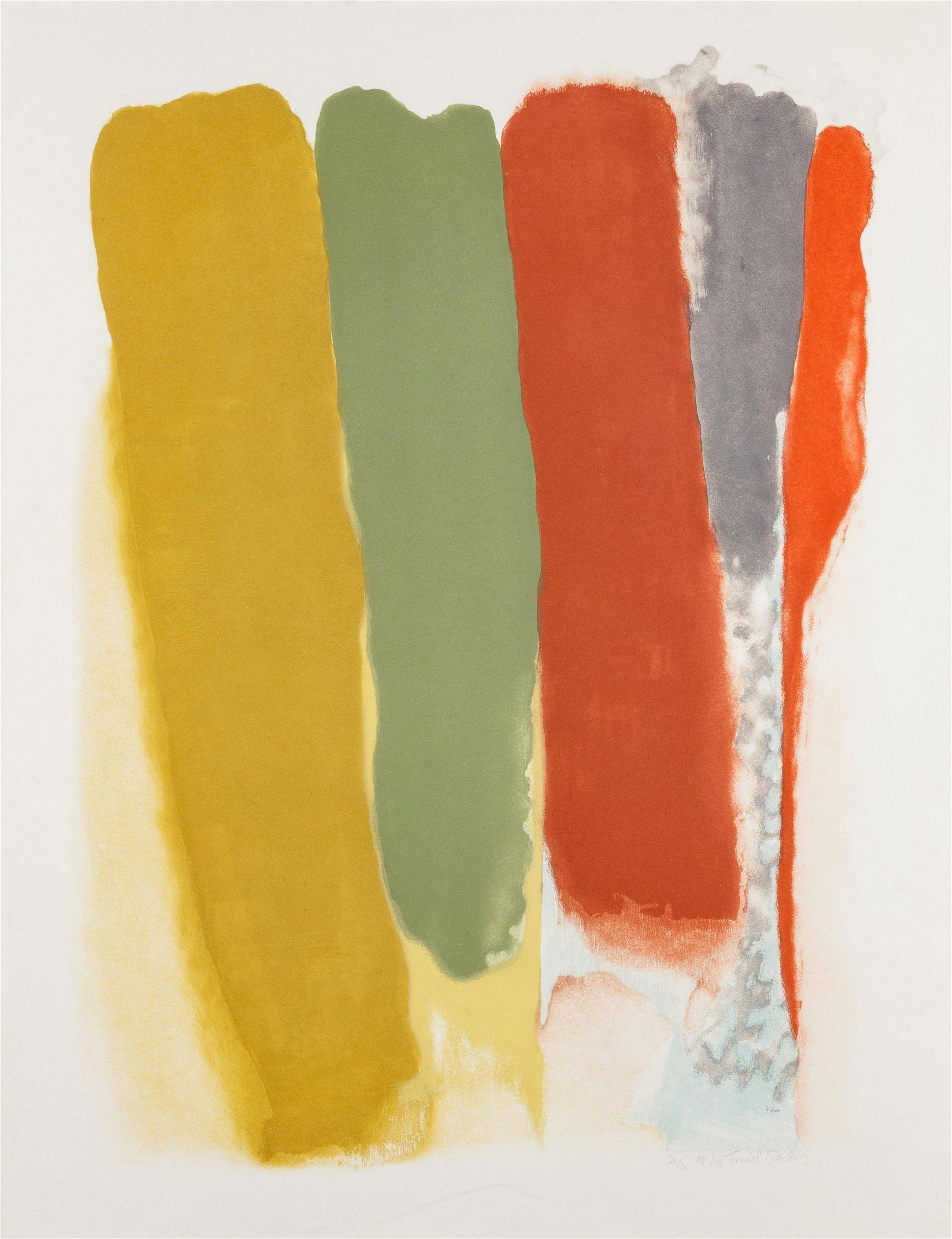 Friedel Dzubas (American/German, 1915-1994) Untitled,
