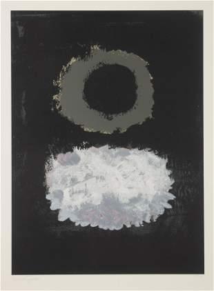 Adolph Gottlieb (American, 1903-1974 Black Field, 1972