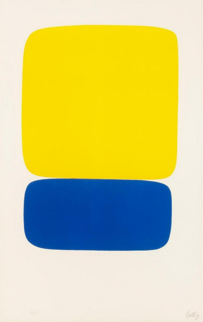 Ellsworth Kelly  (American, 1923-2015) Yellow Over Dark