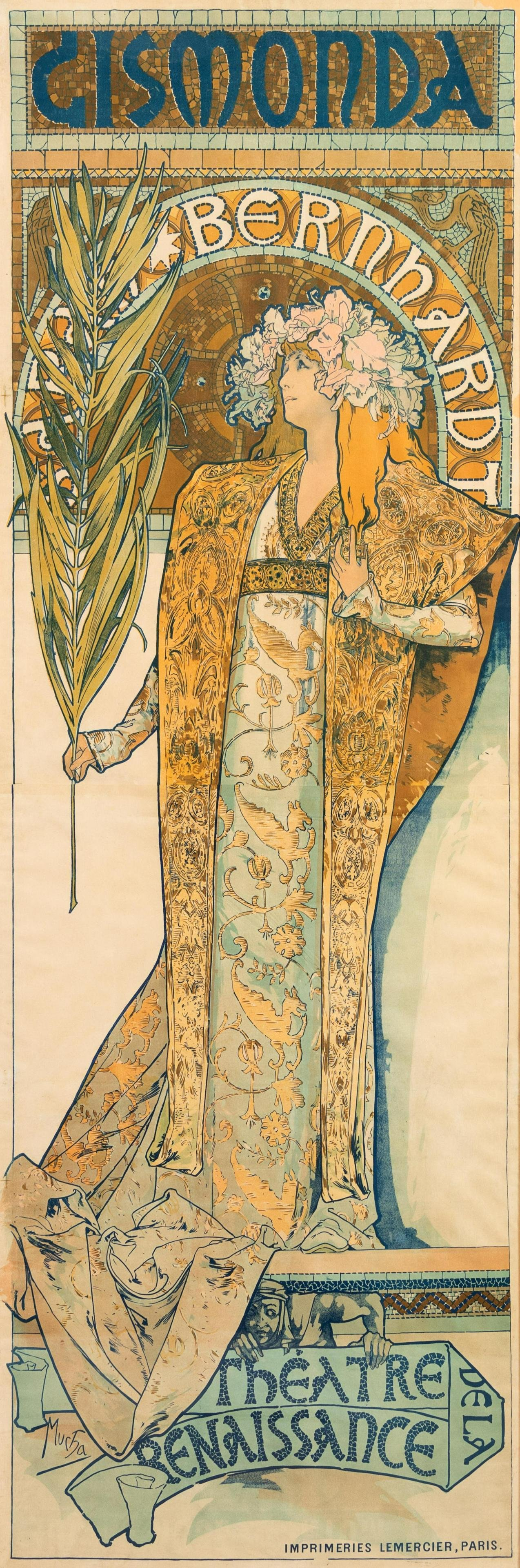 Alphonse Mucha (Czech, 1860-1939) Gismonda, Sara