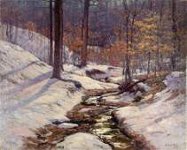 Theodore Clement Steele (American, 1847-1926) Winter