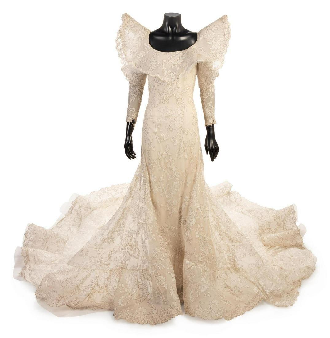 Pierre Cardin White Evening Dress, 1970-80s