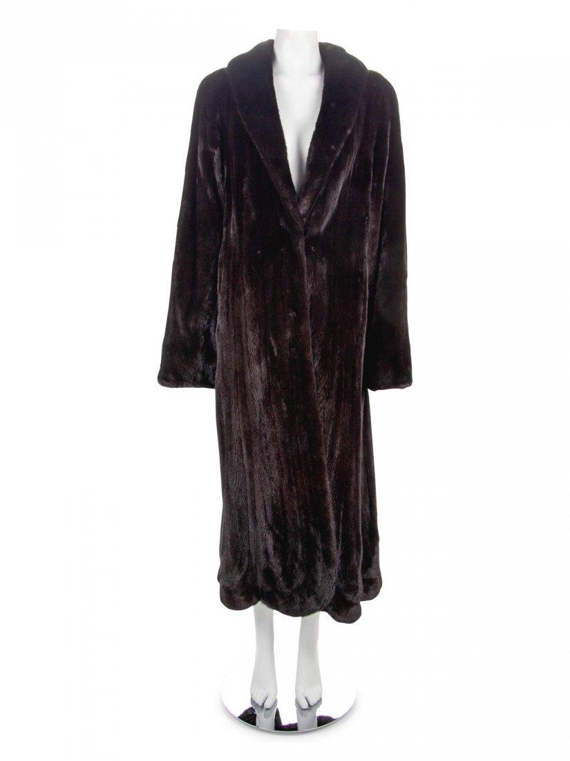 Birger Christensen Long Mink Fur Coat,