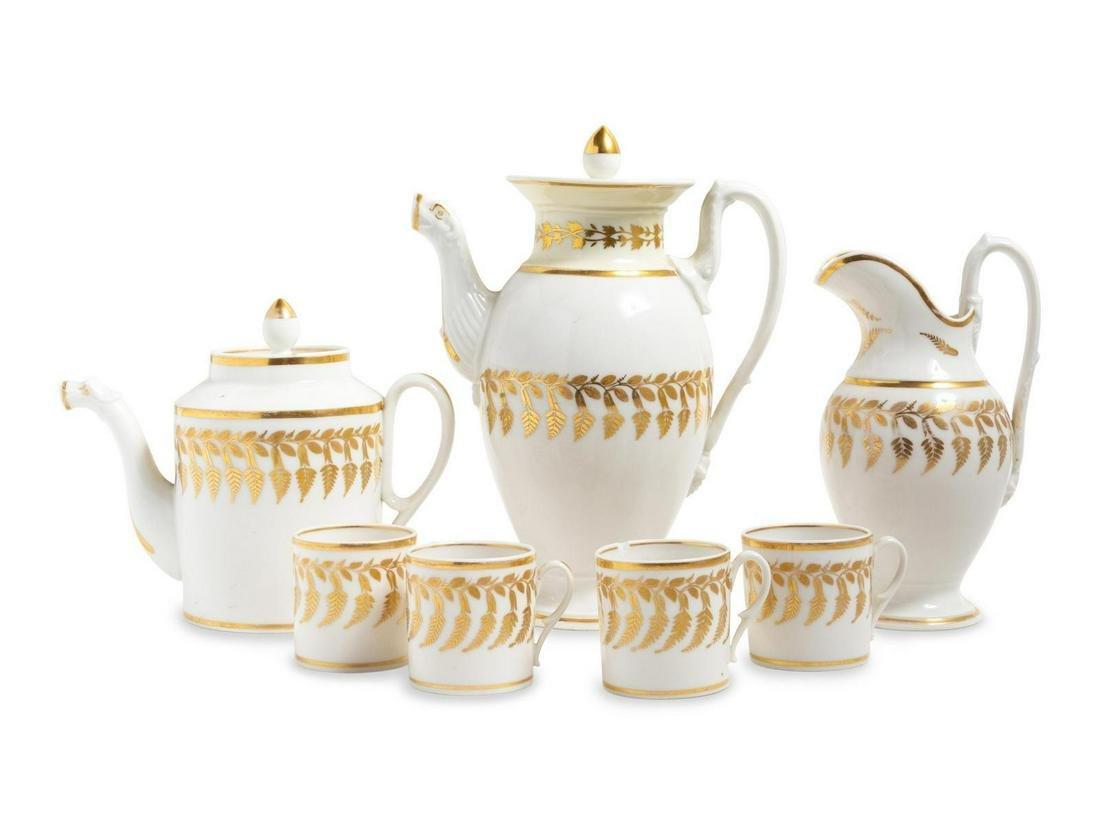 A Paris Porcelain Tea Service
