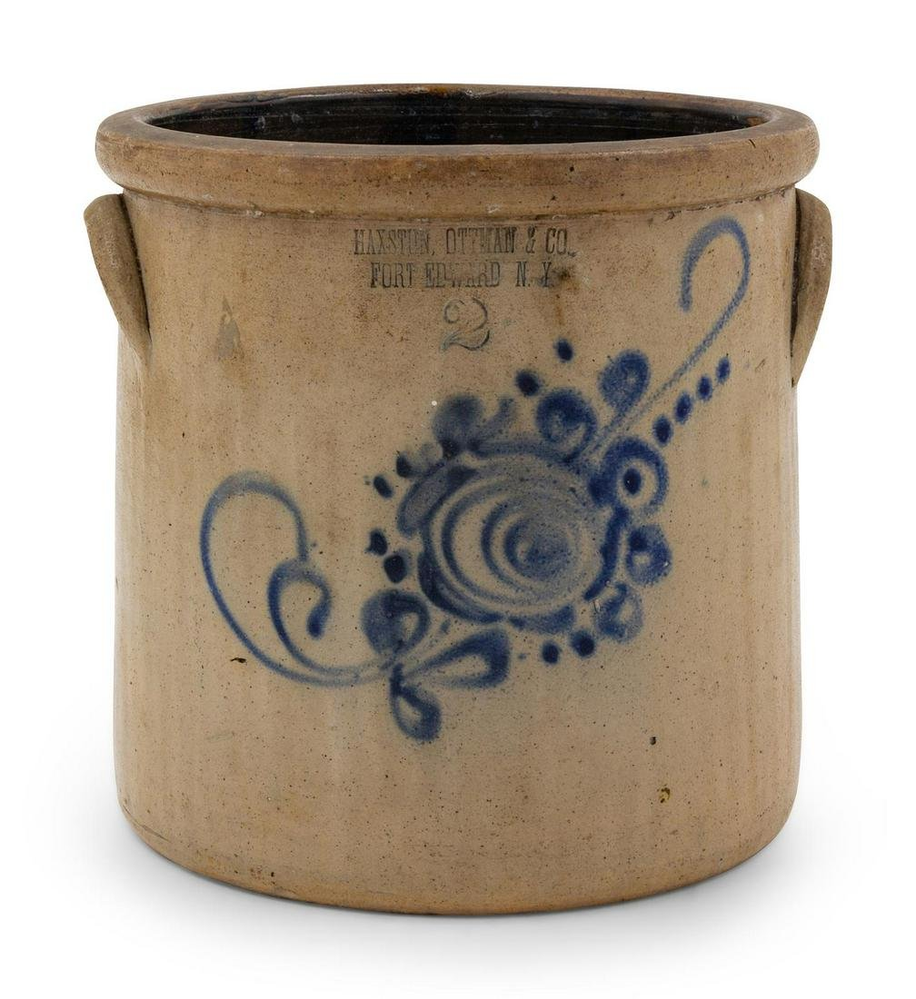 A Group of Cobalt-Decorated Stoneware Articles