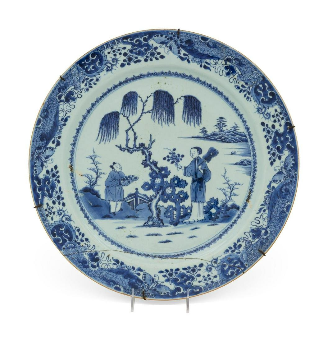 A Chinese Export Porcelain Plate