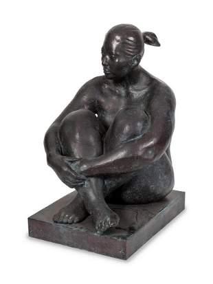 Armando Amaya (Mexican, b. 1935) Seated Woman with