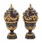 A Pair of Neoclassical Style Gilt Bronze Mounted