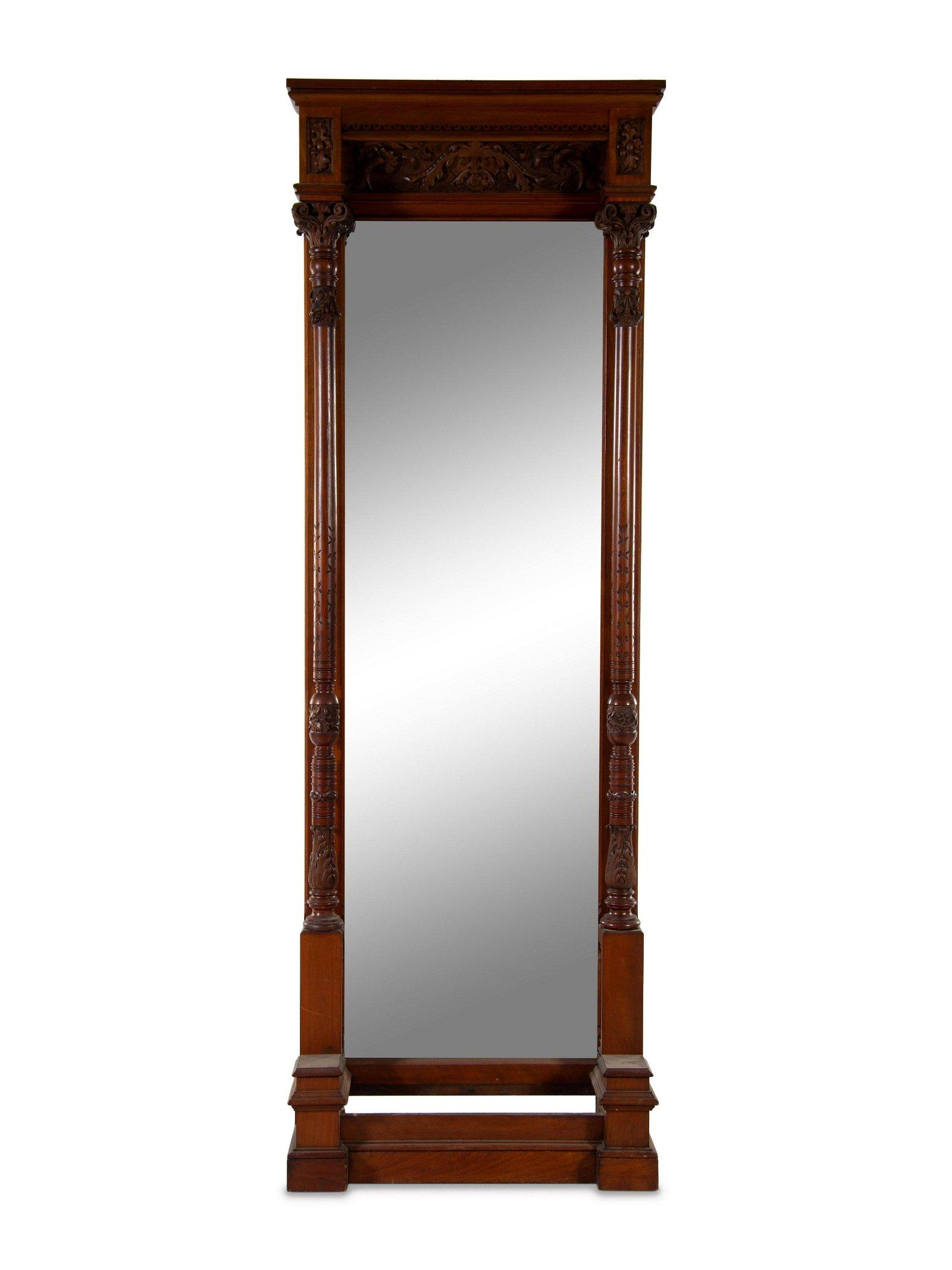 A Victorian Walnut Pier Mirror