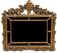 A Continental Giltwood Mirror Height 24 x width 26 1/4