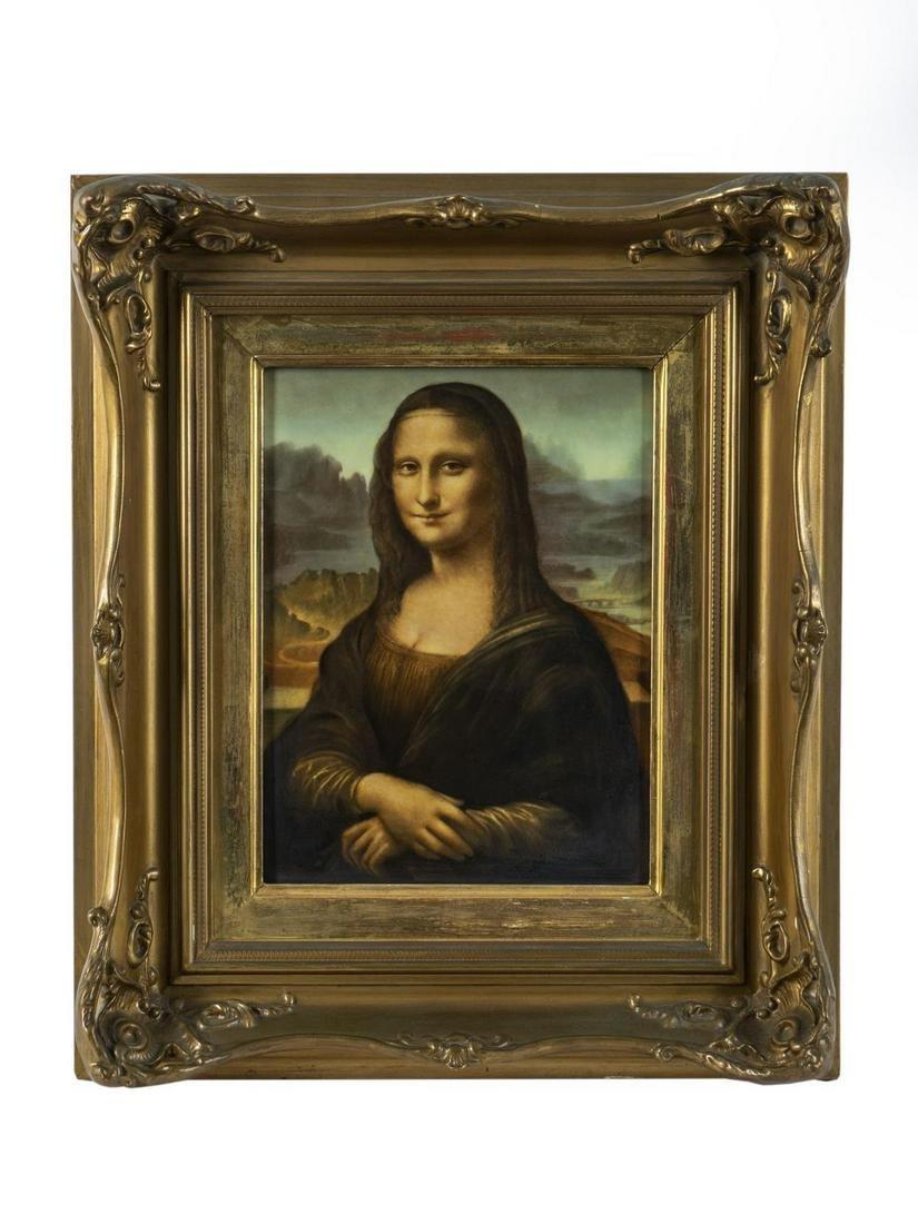 A German Porcelain Plaque: Mona Lisa (La Giaconda) 14