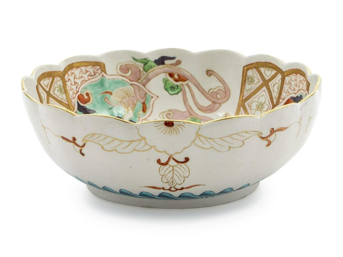 A Worcester Porcelain Bowl in the Japanese Manner