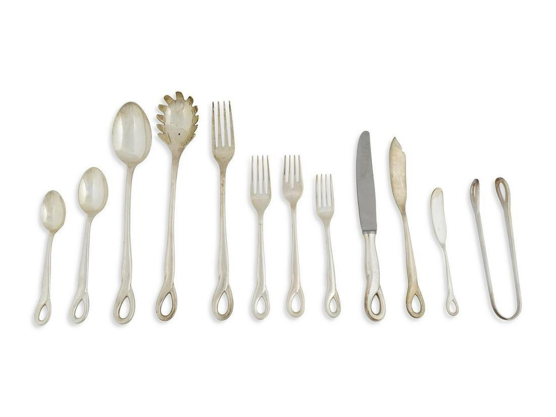 A Tiffany & Co. Silver Flatware Service for Twelve,
