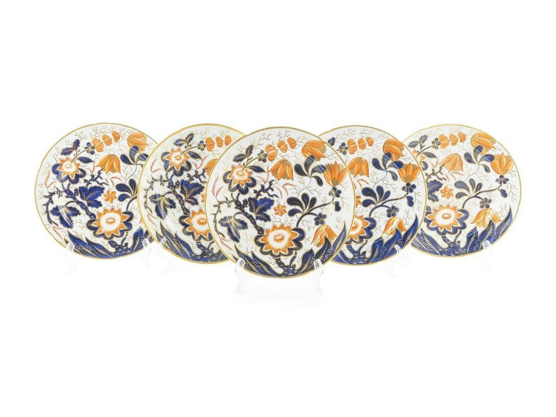 18 English Imari Palette Porcelain Plates Diameter 9