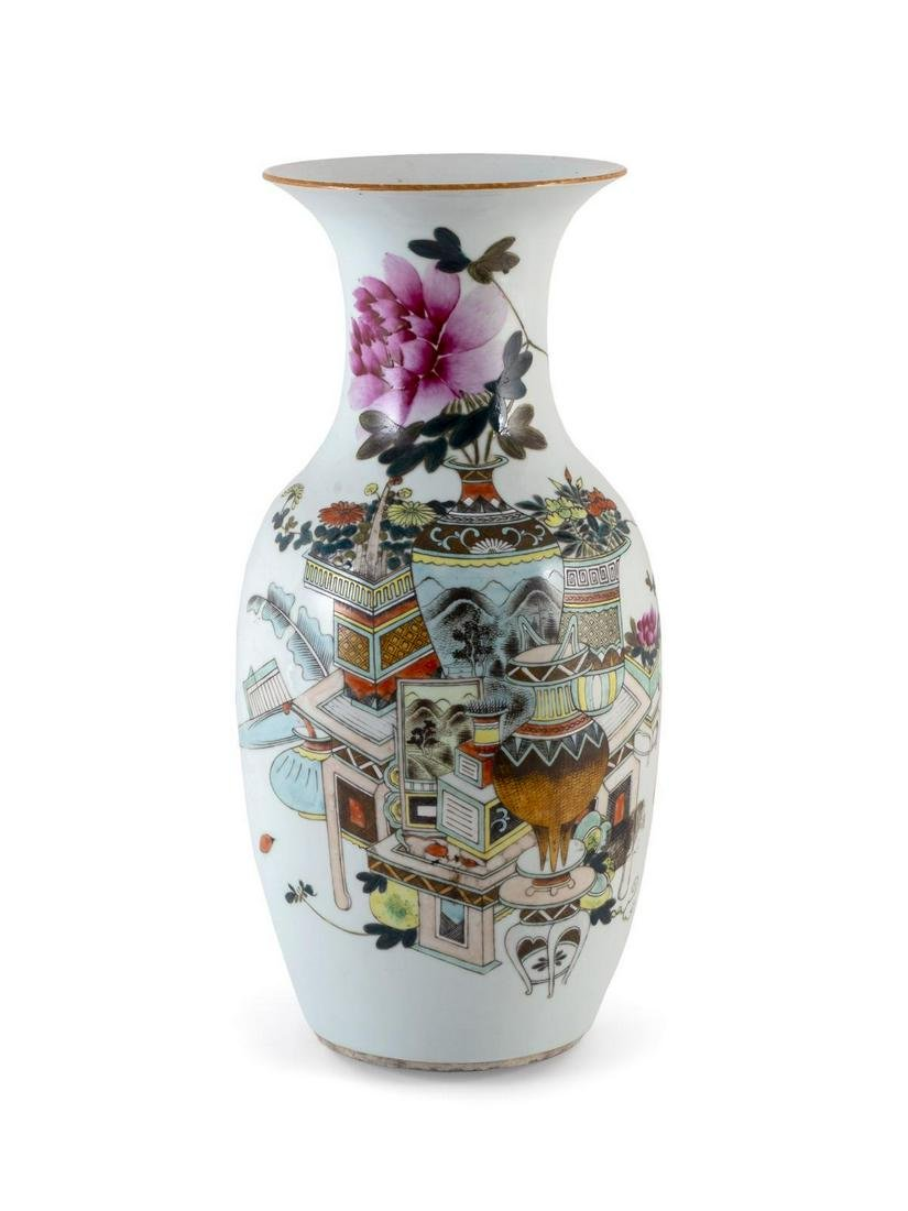 A Chinese Porcelain Vase Height 17 inches.