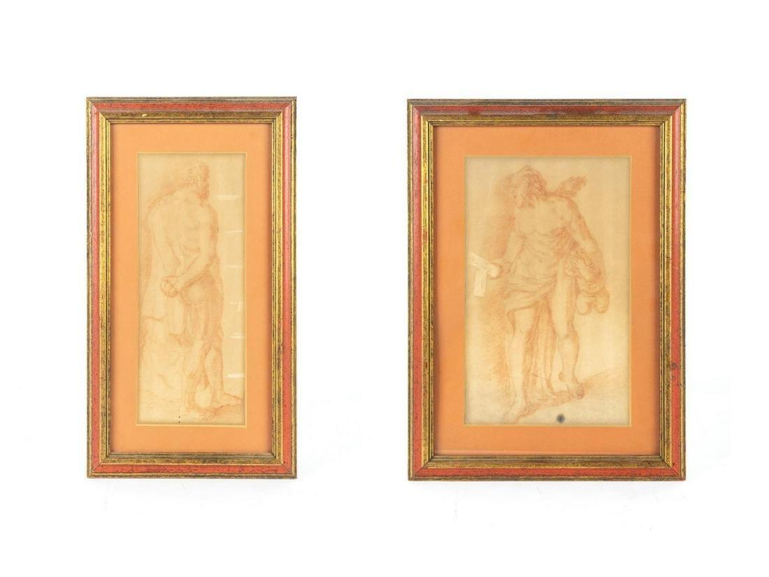 Italian School (19th Century) A Pair of Figural Studies