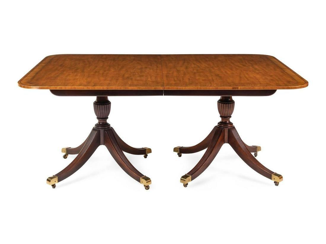 A Regency Style Mahogany Dining Table