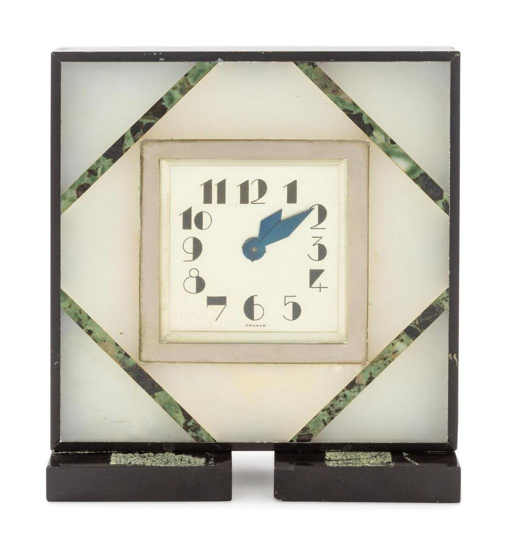 A French Art Deco Desk Clock