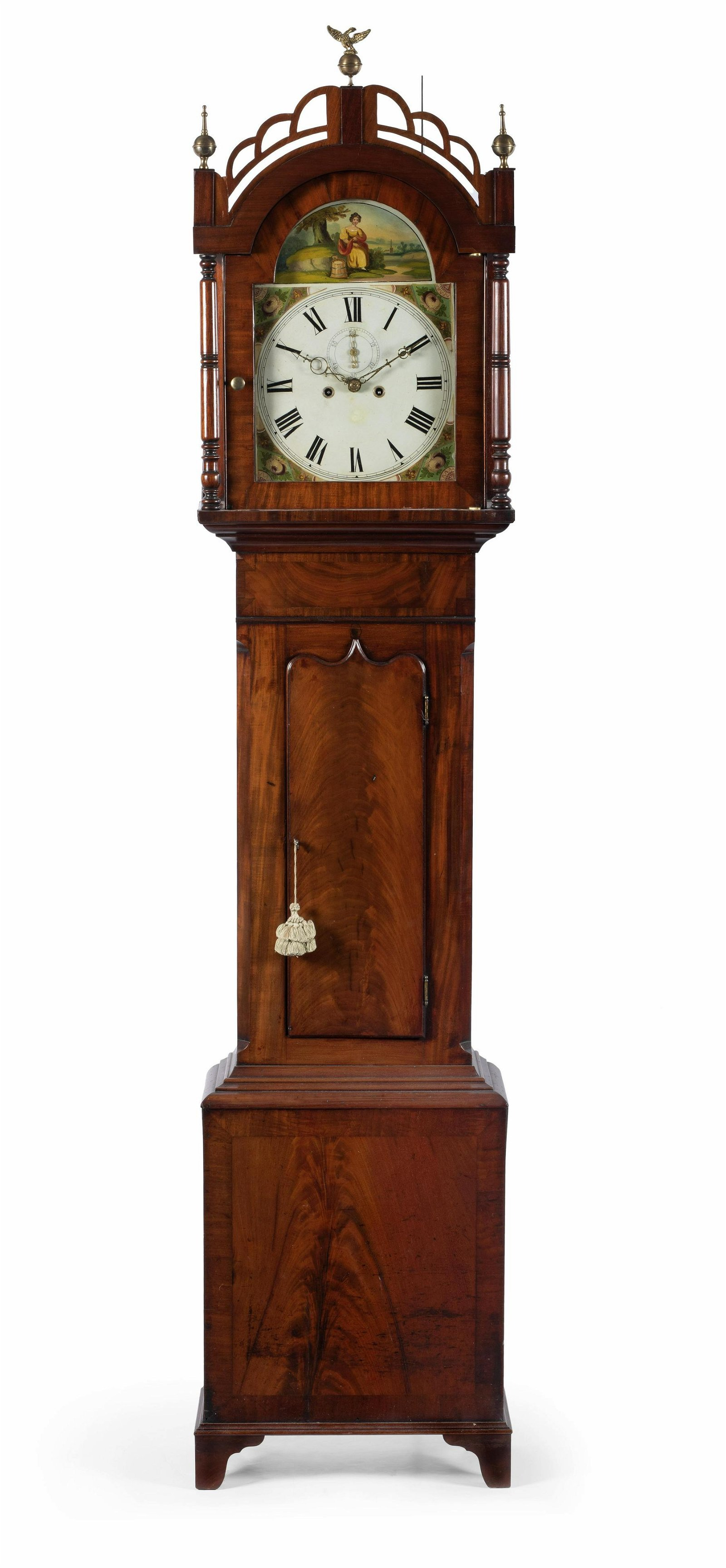 A George III Style Mahogany Tall Case Clock