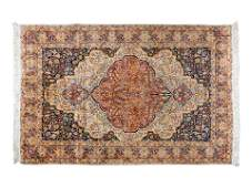 A Turkish Silk Hereke Rug