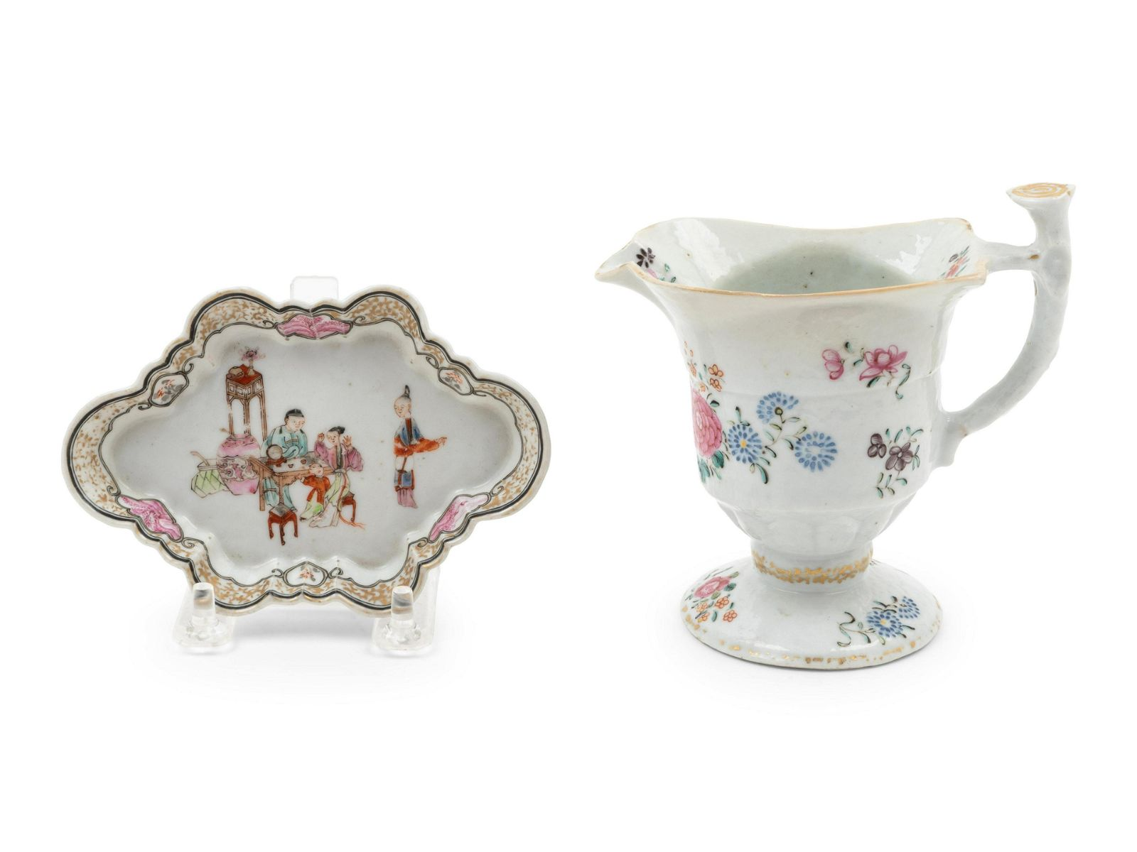 Two Chinese Famille Rose Porcelain Articles Length of
