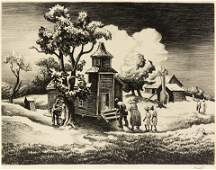 Thomas Hart Benton 9 5/8 x 12 5/8 inches.