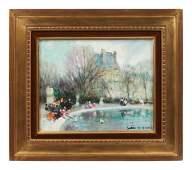 Jules Rene Herve (French, 1887-1981) Tuileries Gardens
