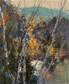 Emile Albert Gruppe (American, 1896-1978) Birch Trees