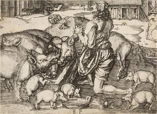 Monogrammist B.P. (After Albrecht Durer) The Prodigal