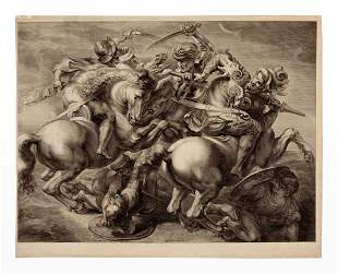Gerard Edelinck (French, 1640-1707) The Battle of