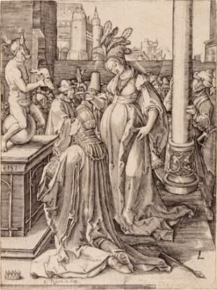 After Lucas van Leyden (Dutch, 1494-1533) Solomon Prays
