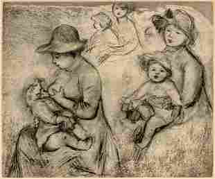Pierre-Auguste Renoir (French, 1841-1919) Trois