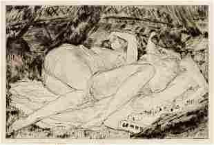 Andre Dunoyer de Segonzac (French, 1884-1974) Les