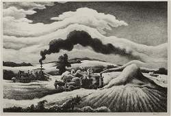 Thomas Hart Benton American 18891975 Threshing