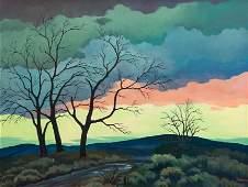William Sanderson (American, 1905-1990) Landscape with