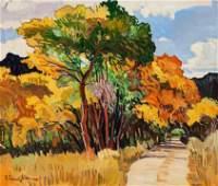 Robert Daughters (American, b. 1929) Dixon Backroad