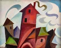 William Sanderson  (American, 1905-1990) Rooftops
