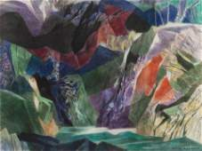 Ethel Magafan (American, 1916-1993) On Coming Storm,