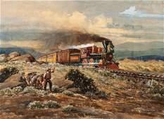 Lloyd Harting (American, 1901-1974) Untitled Railroad