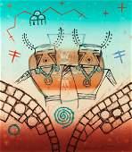 Dan Lomahaftewa (HOPI / CHOCTAW, 1951-2005) Ancient