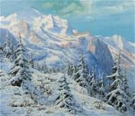 Laszlo Neogrady Hungarian 18961962 Alpine Scene