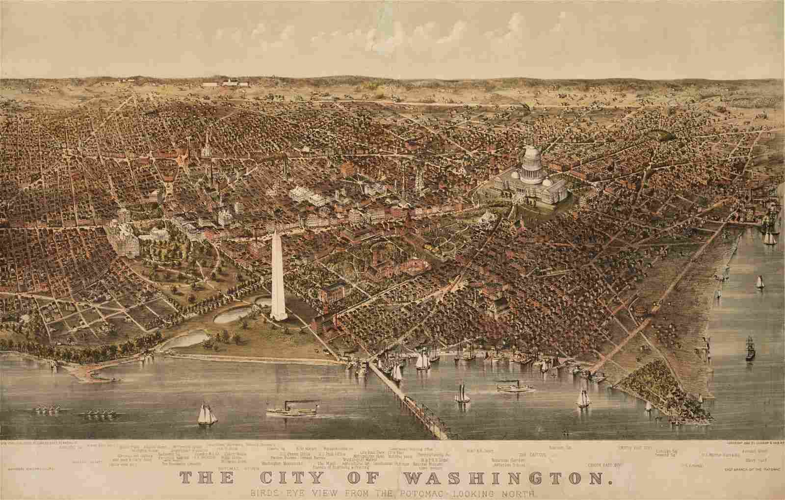 [WASHINGTON D. C.]. CURRIER & IVES, publishers.