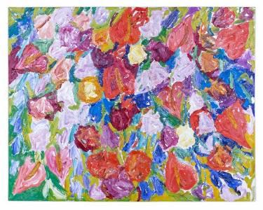 Hunt Slonem (American, b. 1951) Tropical Flowers