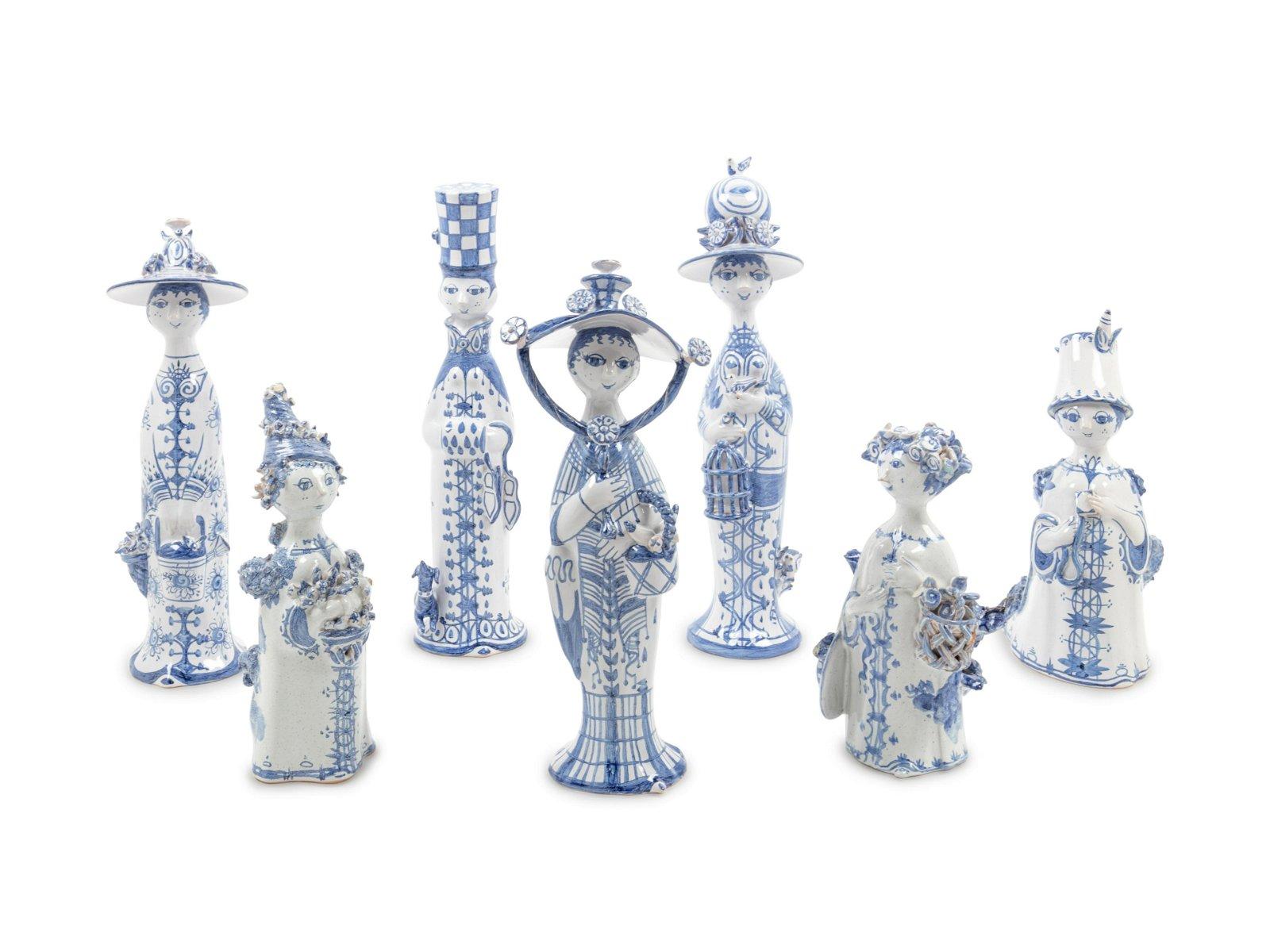 Bjorn Wiinblad (Danish, 1918-2006) Collection of Seven