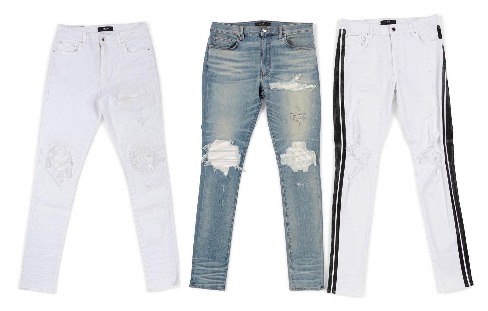 Three Pairs of Amiri Jeans: c. 2017