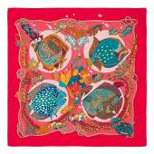 Two Hermes 90cm Silk Scarf Carre160