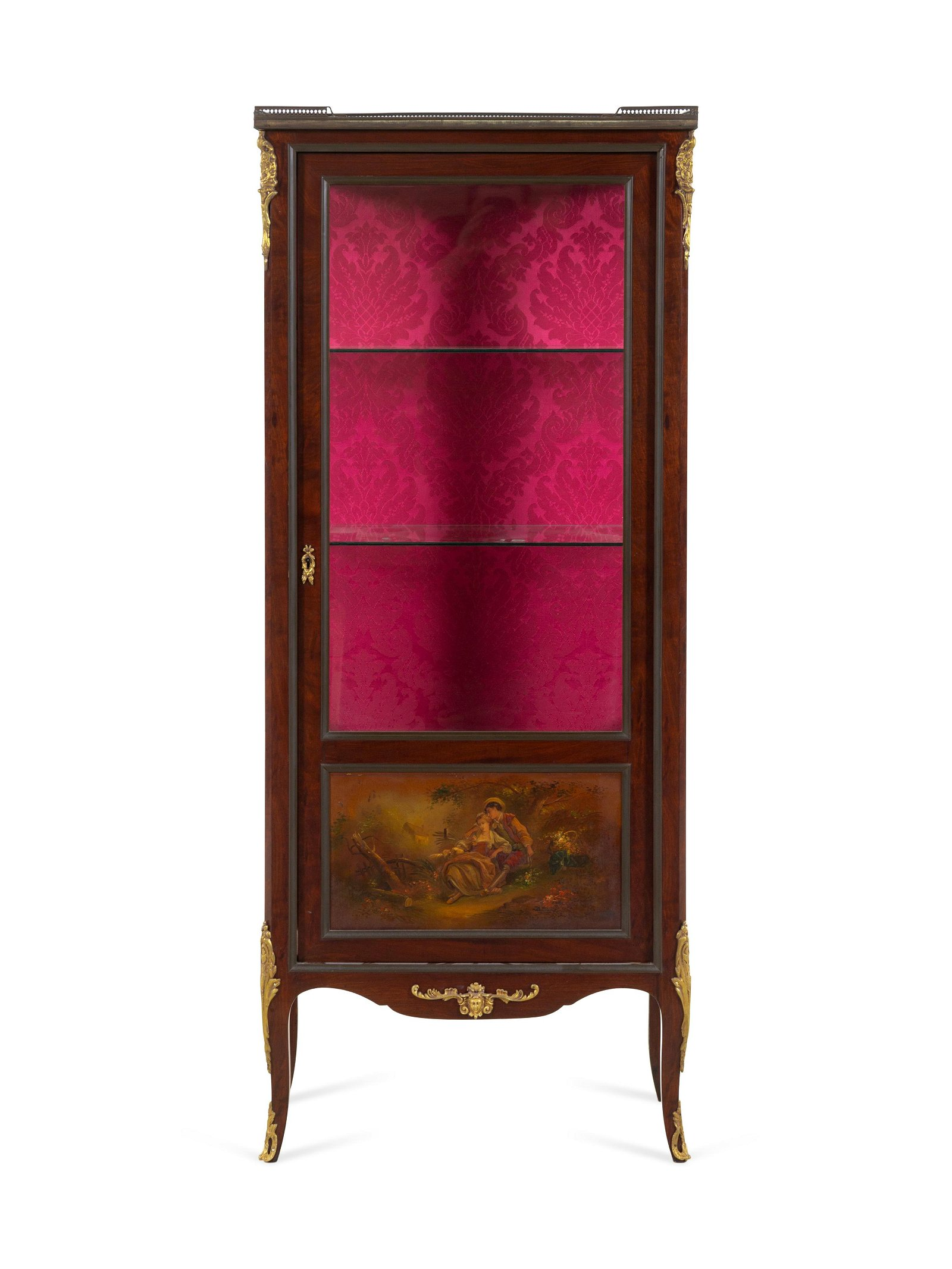 A Louis XV Style Gilt Bronze Mounted Vernis
