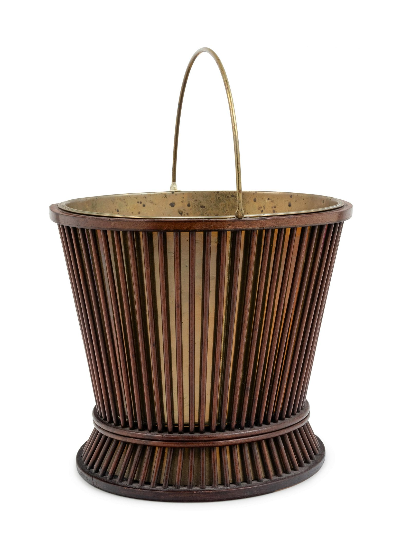 A George III Mahogany and Brass Peat Pail