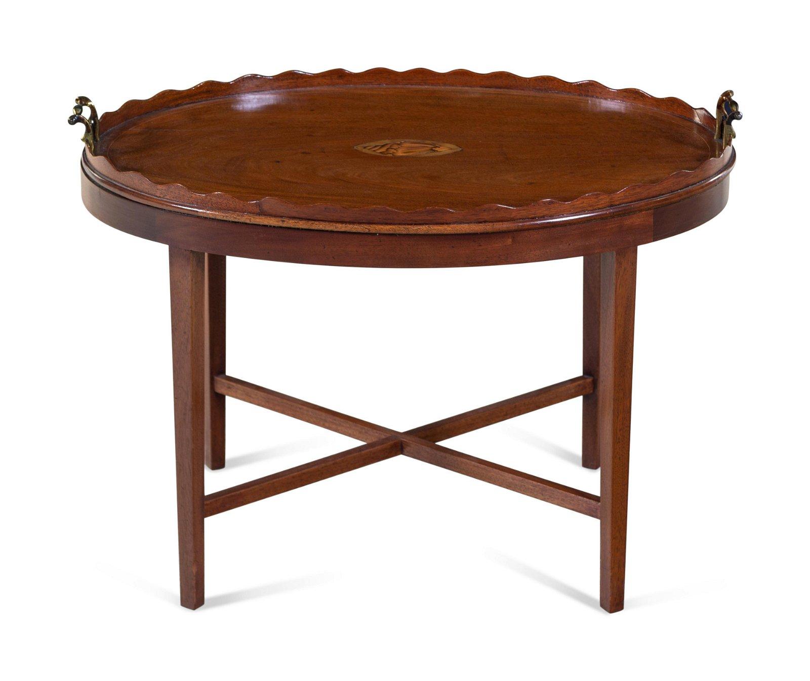 A Georgian Style Inlaid Mahogany Tray